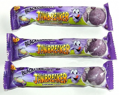 Zed Candy blackcurrant Jawbreakers